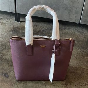 Purple leather Kate Spade handbag